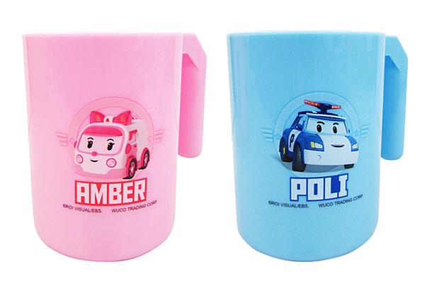 小饅頭**POLI 牙刷杯-300ml(粉/藍)(460-56319)