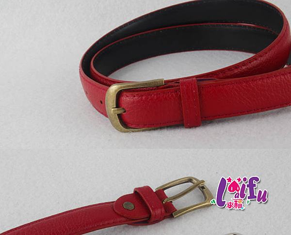 來福,H312腰帶基本配備銅色鬆緊細腰帶皮帶腰封腰帶,售價168元