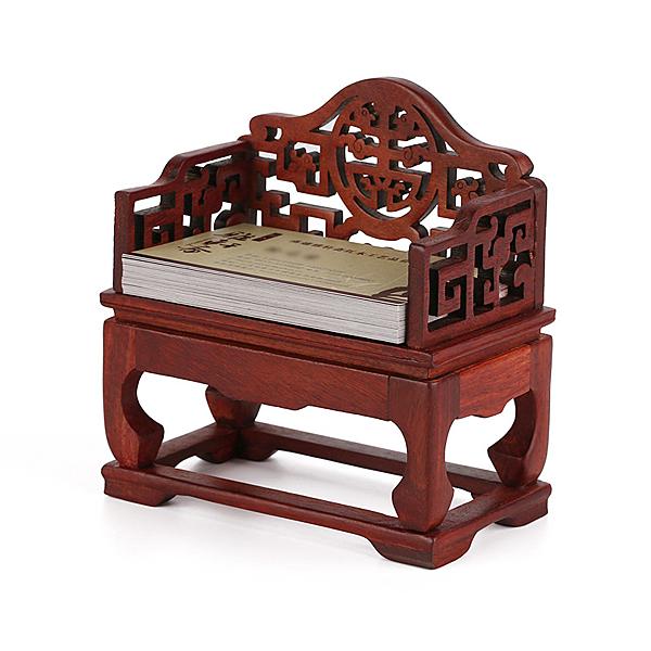 [超豐國際]古時候寶座名片盒 商務創意桌面故宮文創 高檔木質1入