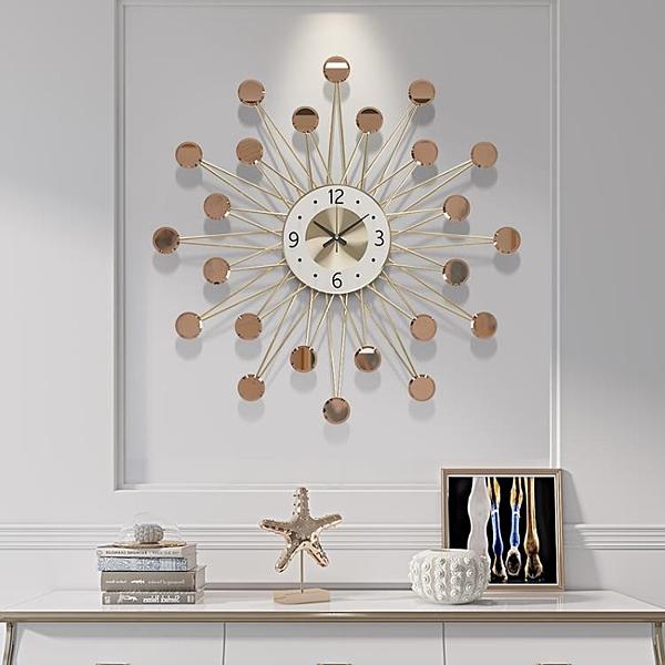 掛鐘客廳家用時尚掛表現代藝術靜音時鐘簡約星空個性創意北歐鐘表PH3399【棉花糖伊人】