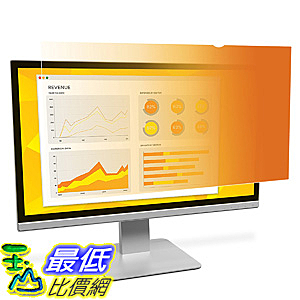 [106美國直購] 3M GF220W1B 螢幕防窺片 3M Gold Privacy Filter for 22吋 Widescreen Monitor (16:10)