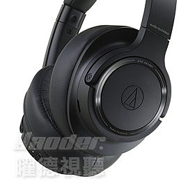歲末賞樂趣 預購【曜德】鐵三角 ATH-SR50BT 黑色 無線耳罩式耳機 續航力28HR /送收納袋