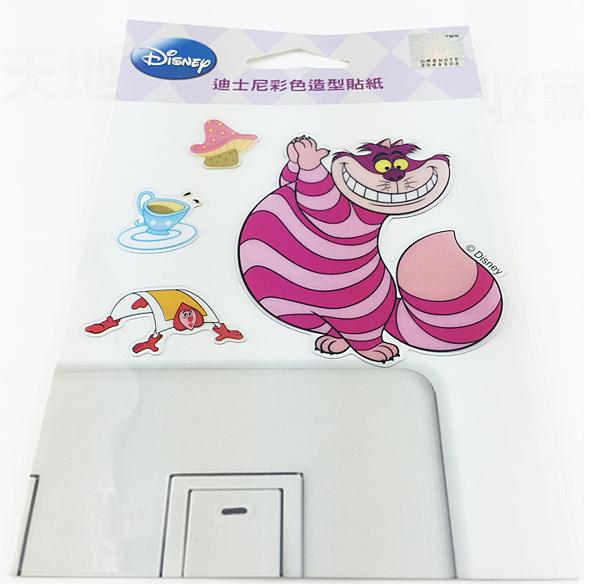 【收藏天地】迪士尼系列*裝飾貼紙-柴郡貓(Cheshire cat) 開關貼 ∕  文創 送禮 卡通 可愛 裝飾 禮品