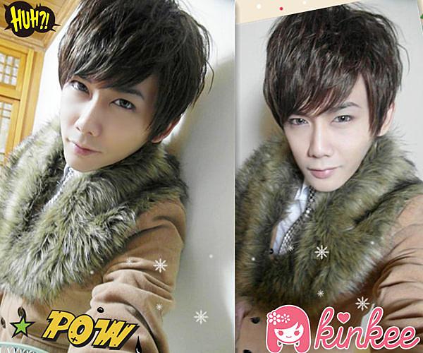 *╮Kinkee假髮╭*日本P牌 2PM風型男輕龐克玉米燙俐落層次男生耐熱短髮【P0026】