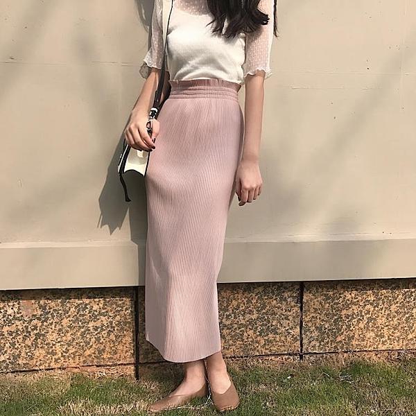 [超豐國際]夏裝女裝港味復古網紗吊帶背心 彈力顯瘦高腰開叉皺1入