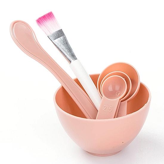 美妝 護膚工具 敷臉 泥膜 軟膜 面膜碗 刮勺 量匙 面膜刷 面膜棒 面膜DIY 面膜四件套【Z088】慢思行