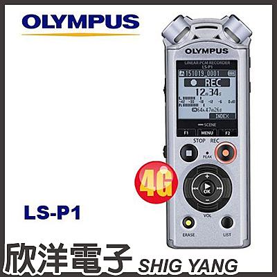 Olympus LS-P1 數位錄音筆 (4GB可擴充) / 德明公司貨保固18個月
