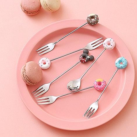 幸福婚禮小物❤甜甜圈湯匙叉子❤姊妹禮/伴郎禮/伴娘禮/送客禮/活動禮物/叉子/湯匙