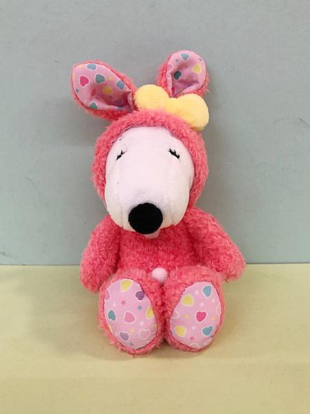 【震撼精品百貨】史奴比Peanuts Snoopy ~SNOOPY絨毛娃娃吊飾-穿桃兔子裝#52194