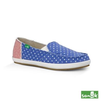 SANUK 愛國者系列懶人鞋-女款(紅藍色)1013403 ADST