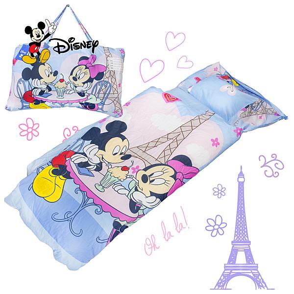 米奇 浪漫巴黎 藍 兒童睡袋 標準 台灣製 超取限一顆 伊尚厚生活美學