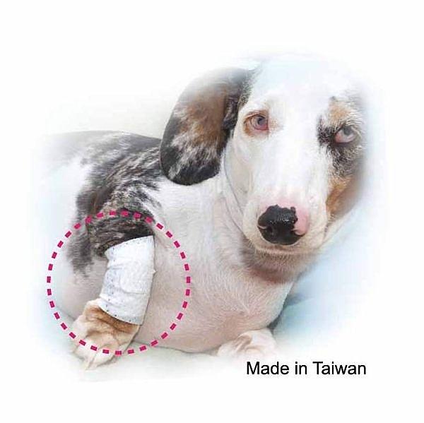 寵物受傷用繃帶 - 普通型 尺寸XS、S 小型寵物 受傷 簡單急救包紮 台灣製造