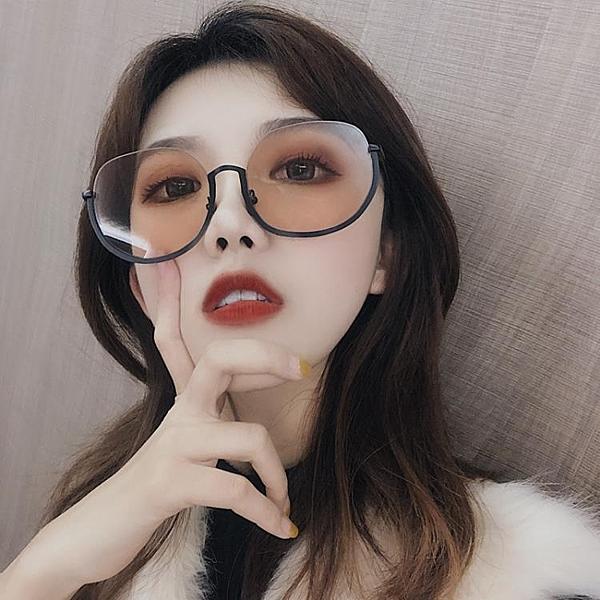 眼鏡女韓版潮gm2019新款墨鏡ins網紅大圓臉街拍防紫外線明星 喵小姐