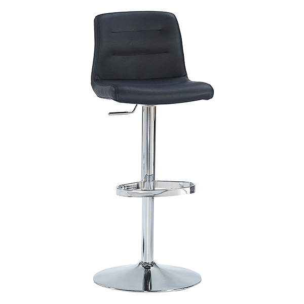 【森可家居】安瑟黑色升降吧檯椅 8JX532-7 吧台椅