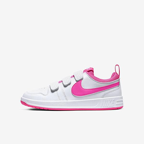 Nike Pico 5 GS [CJ7199-102] 大童鞋 女鞋 運動 休閒 基本 魔鬼氈 簡約 緩震 穿搭 白粉