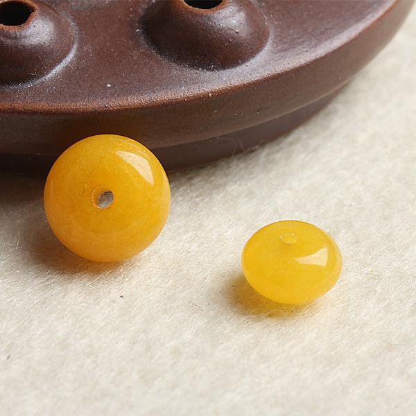 [超豐國際]DIY水晶飾品配件黃玉髓盤珠手鏈項鏈半成品手工串1入