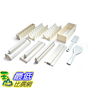 [美國直購] Kitchen + Home Sushi Making Kit 壽司捲 海苔捲專用 製作工具 Easy to Use DIY 10 Piece