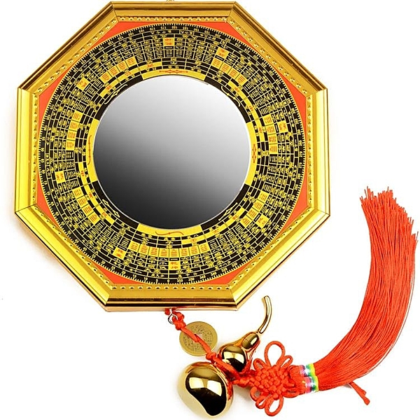 帝祖合金八卦鏡掛件凸鏡凹面風水用品擺件太極門口居家裝飾品 【快速出貨】