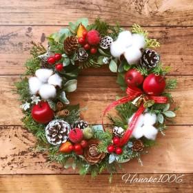 クリスマスリーススノー&アップル
