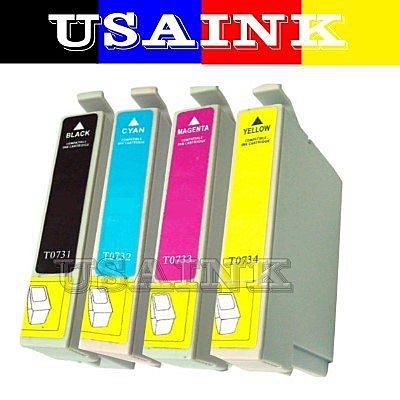 USAINK~EPSON CX5900/CX6900F/CX8300/CX9300F 相容墨水匣 (T0731/T0732/T0733/T0734 任選10盒.裸裝.免運 )