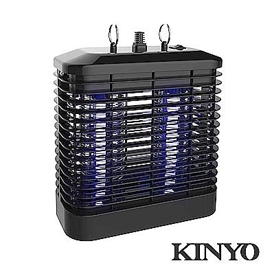 【超人生活百貨】KINYO 強力8W電擊式UVA燈管捕蚊燈 KL-7081 獨立式集蚊盒,清洗方便 附吊環設計