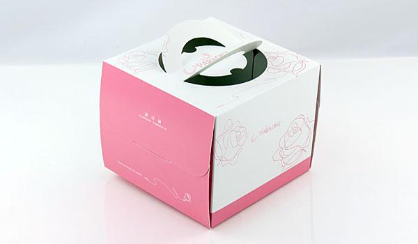 粉色 6吋蛋糕盒 附底托【C026】外帶提盒 烘焙包裝 布丁蛋糕 派盒