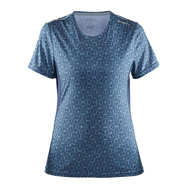 【速捷戶外】瑞典CRAFT 1903942 女圓領短袖排汗衣(藍紫彩印), 排汗衣 圓領T恤