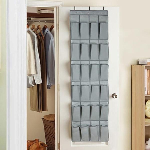 門後收納掛袋鞋收納袋 牆壁衣櫃衣櫥雜物收納袋掛袋  【新春特惠】