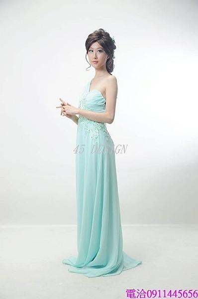 (45 Design) 伴娘 長款禮服新娘 婚紗禮服 新款敬酒服演出服吊帶晚禮服