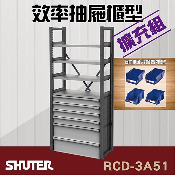【樹德工業系列】RCD-3A51 RC效率抽屜型【擴充組】工具桌 工具車 螺絲收納 重型工業