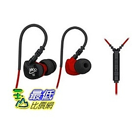 [美國直購] MEE audio 紅色 Sport-Fi S6P Memory Wire In-Ear Headphones 抗噪 耳道式 運動 耳機