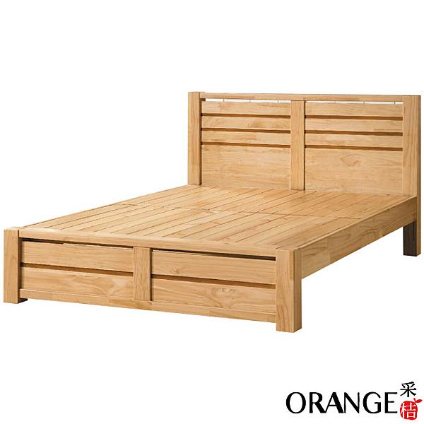 【采桔家居】哈克   時尚5尺雙人實木床台(不含床墊)