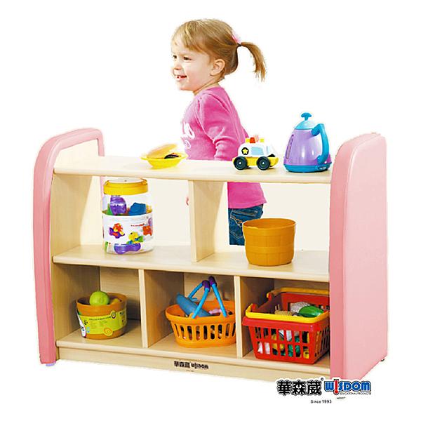 【華森葳兒童教玩具】淘樂幼兒系列-淘樂幼兒中空五格櫃 KB1-MTD027-82