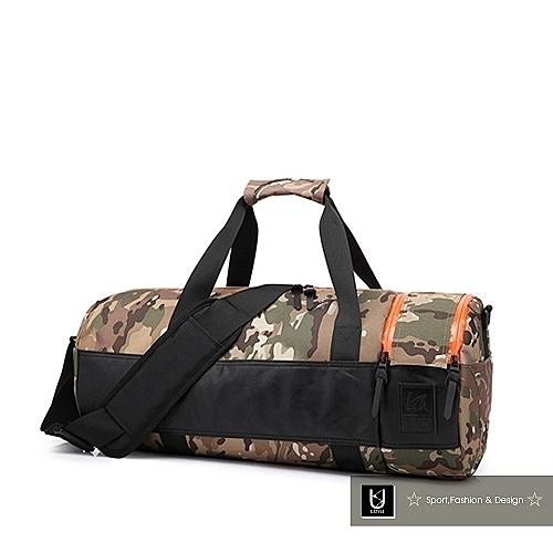 【US.STYLE】VA我的小旅行輕量手提旅行籃球包(迷彩綠)
