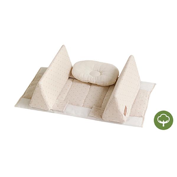 日本 farska 貼身防翻枕床中床(防護型-附頭枕)有機款60X35X13
