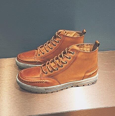 FINDSENSE Z1 日系 潮 男 街頭時尚 休閒 舒適 中高筒 皮鞋 牛津