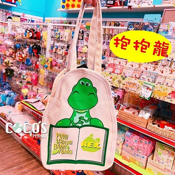 正版 迪士尼 玩具總動員 帆布手提袋 飲料提袋 收納袋 購物袋 抱抱龍款 COCOS DK280