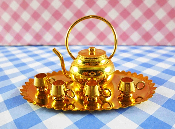 【震撼精品百貨】日本精品百貨-日本迷你袖珍擺飾-下午茶組-圓壺
