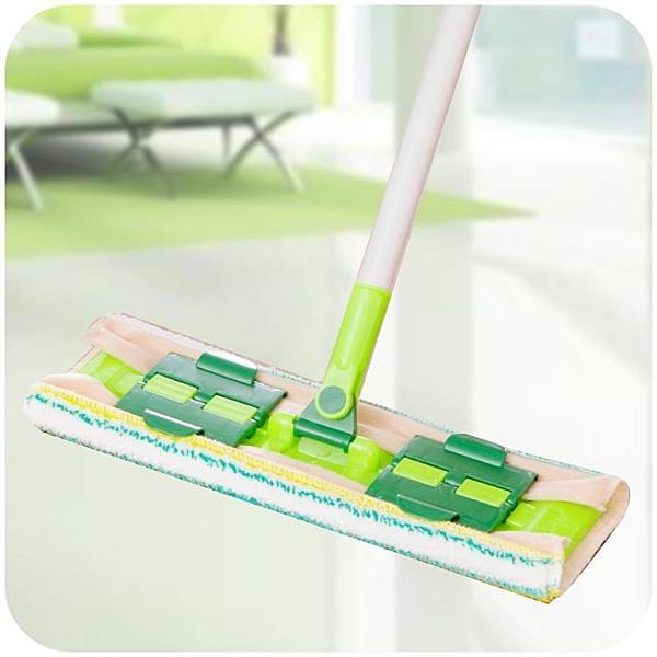 [超豐國際]360度旋轉平板拖把地板免手洗毛巾拖布 家用夾固式木地板瓷磚