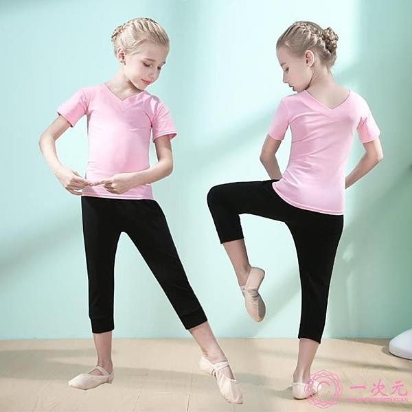 兒童舞蹈服女童練功服長袖套裝小女孩舞蹈衣幼兒拉丁舞服裝跳舞服