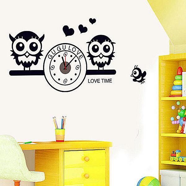 創意可移動壁貼 牆貼 背景貼 時尚組合壁貼樹 璧貼 磁磚貼貓頭鷹【YV4215】BO雜貨