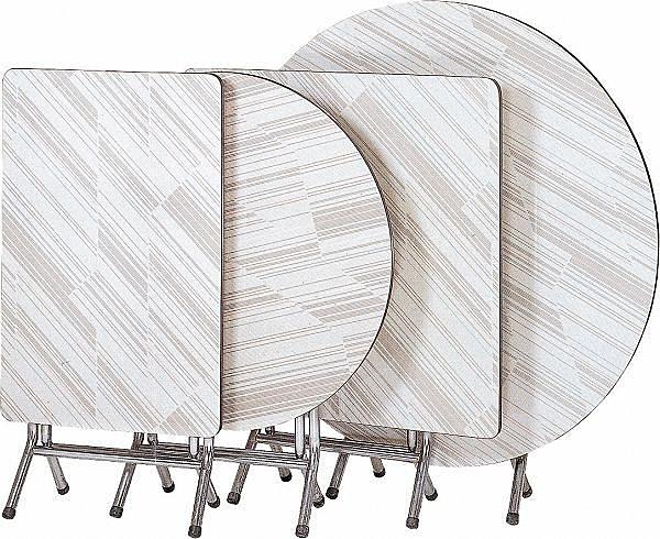 HY-Y323-4  3.5尺圓斜紋實心合桌(木心板)