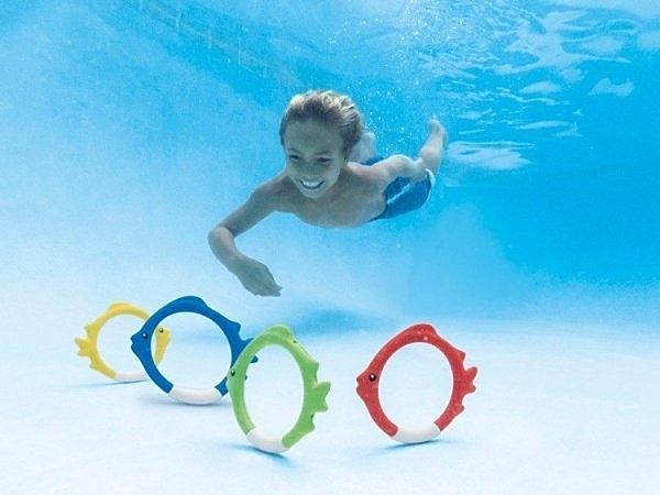 [衣林時尚] INTEX 魚浮標(1組4個) 游泳第一訓練課 潛水撿物 55507