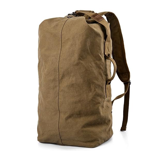限定款登山背包 超大容量後背包旅行旅遊包休閒登山包男士帆布背包輕便戶外多功能
