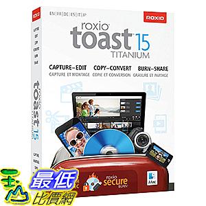 [106美國直購] 2017美國暢銷軟體 Roxio Toast 15 Titanium Mac