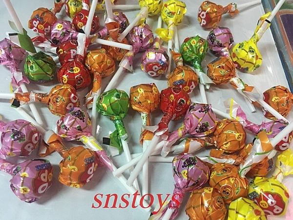 sns 古早味  FRUIT 棒棒糖 圓形棒棒糖 水果棒棒糖~綜合水果口味 50支 1支長8cm 直徑2.3cm