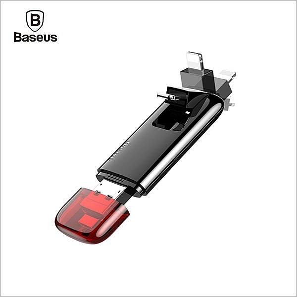 【Love Shop】Baseus倍思 紅曜石 Z1 Lightning / Micro 二合一 儲存隨身碟 32G A