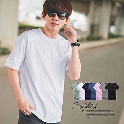 T恤 舒適寬版素面多色短T/素T【N9856J】