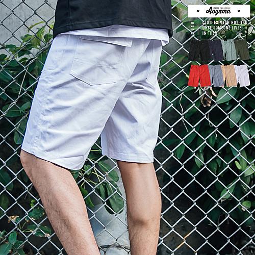 休閒短褲 夏日必備高磅舒適簡約素面工作短褲【A88926】工作褲