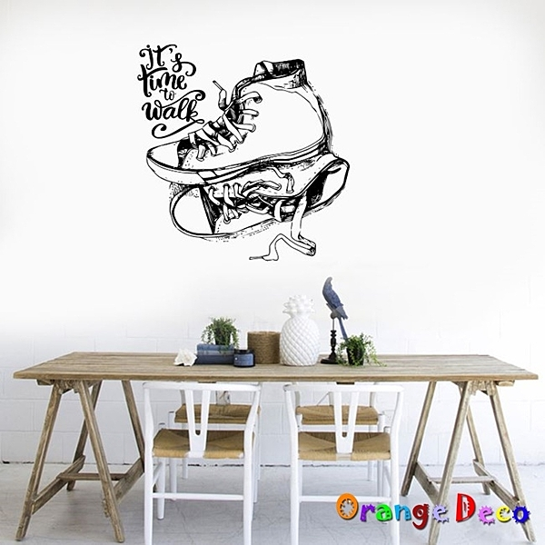 壁貼【橘果設計】手繪布鞋 DIY組合壁貼 牆貼 壁紙 室內設計 裝潢 無痕壁貼 佈置